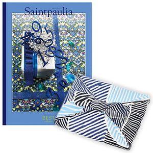<風呂敷包み> 選べるギフト ベストコレクション <セントポーリア Saintpaulia+風呂敷(こはれ ねんりん ブルー)>