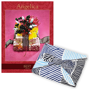<風呂敷包み> 選べるギフト ベストコレクション <アンジェリカ|Angelica+風呂敷(こはれ ねんりん ブルー)>