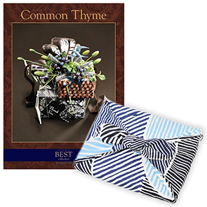 <風呂敷包み> 選べるギフト ベストコレクション <コモンタイム|Common Thyme+風呂敷(こはれ ねんりん ブルー)>