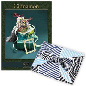 <風呂敷包み> 選べるギフト ベストコレクション <シナモン|Cinnamon+風呂敷(こはれ ねんりん ブルー)>