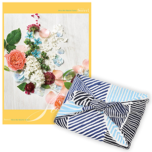 <風呂敷包み> 選べるギフト Mistral(ミストラル) <ソレル+風呂敷(こはれ ねんりん ブルー)>