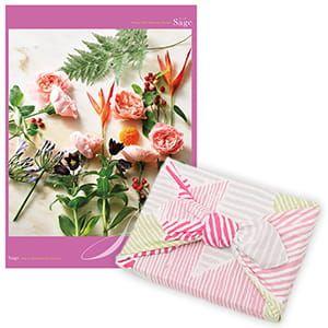 <風呂敷包み> 選べるギフト Mistral(ミストラル) <セージ+風呂敷(こはれ ねんりん ピンク)>