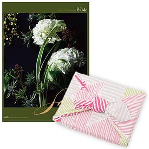 <風呂敷包み> 選べるギフト Mistral(ミストラル) <セーブル+風呂敷(こはれ ねんりん ピンク)>