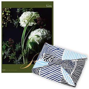 <風呂敷包み> 選べるギフト Mistral(ミストラル) <セーブル+風呂敷(こはれ ねんりん ブルー)>