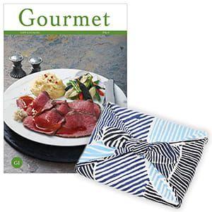 <風呂敷包み> グルメカタログギフト Gourmet <GI+風呂敷(こはれ ねんりん ブルー)>