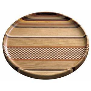 箱根寄木細工 / 無垢8寸仁取盆(縞)