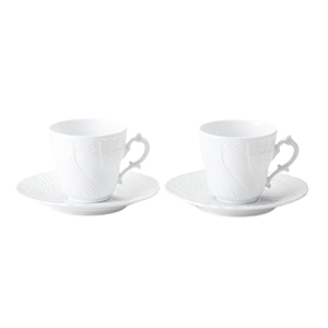 Richard Ginori / ベッキオホワイト ペアコーヒーカップ&ソーサーL