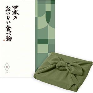 <風呂敷包み> 日本のおいしい食べ物 <蓬(よもぎ)+風呂敷(色のきれいなちりめん かぶの葉)>