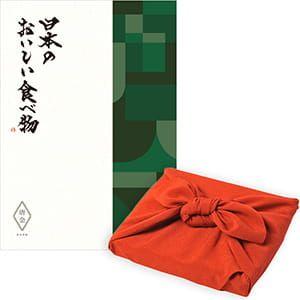 <風呂敷包み> 日本のおいしい食べ物 <唐金(からかね)+風呂敷(色のきれいなちりめん りんご)>