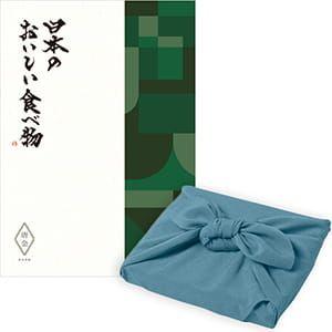 <風呂敷包み> 日本のおいしい食べ物 <唐金(からかね)+風呂敷(色のきれいなちりめん あじさい)>