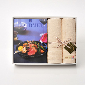 グルメカタログギフト Gourmet <GF>+今治フェイスタオルセット