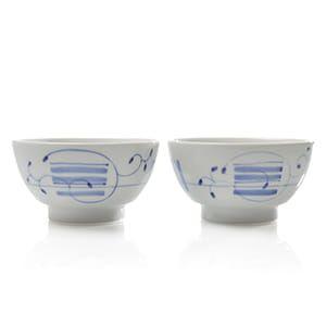 長谷川陶磁器工房 / くらわんか 飯碗 縞