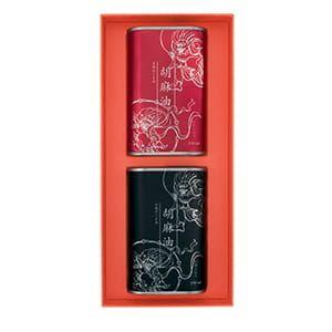 有機胡麻油ペアセット(白胡麻・黒胡麻 各250ml BOX付)