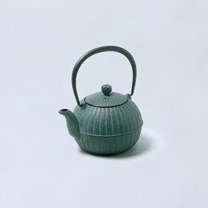 南部鉄瓶 柚子菊(緑)