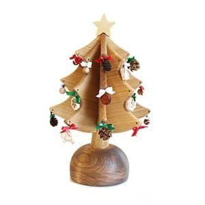 Oak Village / オルゴールツリー・プチ(ナチュラル) [ウィ・ウィッシュ・ユー・ア・メリー・クリスマス]