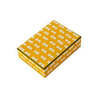 八尾和紙(桂樹舎) / はがき箱 まゆ(黄)