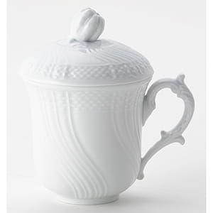 Richard Ginori / ベッキオジノリホワイト フタ付きマグカップ