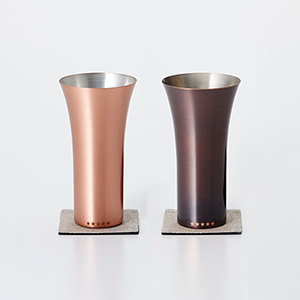 WDH / 限定純銅製タンブラー(ブラウン・マット/2個セット)