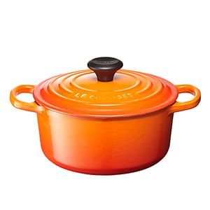 LE CREUSET / シグニチャー ココット・ロンド(18cm/オレンジ)