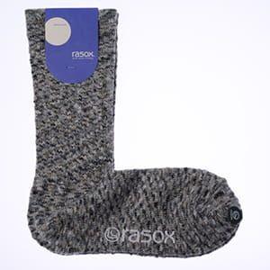 rasox×antina / L字型靴下25~27cm(グレー) [ギフトBOX入り]