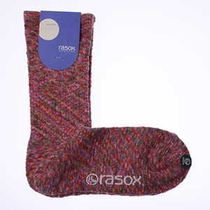 rasox×antina / L字型靴下25~27cm(ピンク) [ギフトBOX入り]