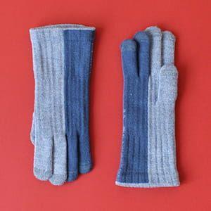 % / 手袋(Blue50%Light blue50%)