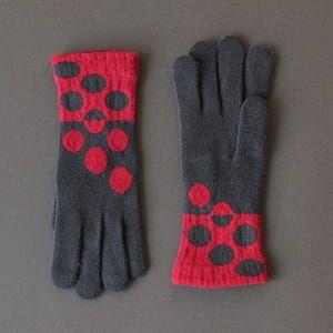 % / 手袋(Dark brown80%Red20%)