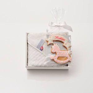 アイシングクッキー 木馬(ピンク) (Thankyou)+タオルセット(ハンド1)