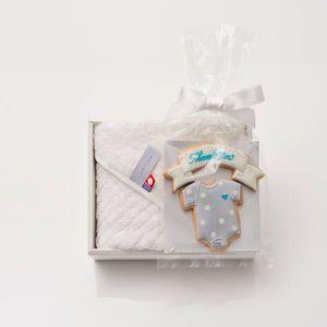 アイシングクッキー ロンパース(ブルー) (Thankyou)+タオルセット(ハンド1)