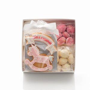 アイシングクッキー 木馬(ピンク)詰合せ (名入れ商品※お名前は備考欄へ)20個以上でご注文ください