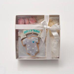 アイシングクッキー ロンパース(ブルー)詰合せ (名入れ商品※お名前は備考欄へ)20個以上でご注文ください