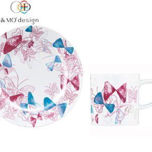 &MO'design / プレート&マグカップセット(LittleButterflies)