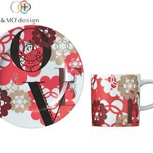 &MO'design / プレート&マグカップセット(LOVE)