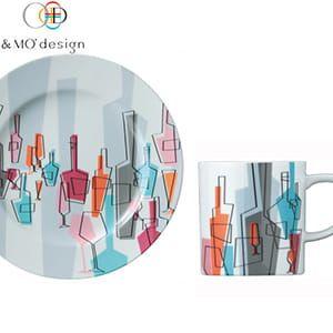 &MO'design / プレート&マグカップセット(Salud)