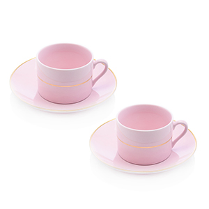 ROOM SERVICE / マカロン ペアカップ&ソーサー(ピンク)